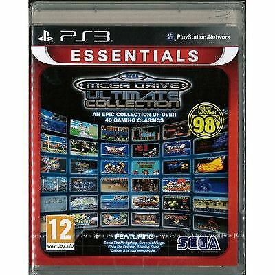 Sega Mega Drive Ultimate Collection Essentials Edition Ps3 - 40 Classic Games