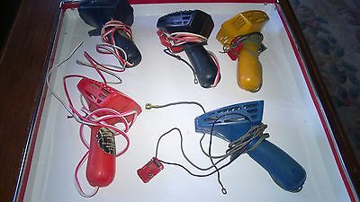 5 Early hand Scalextric Throttles Controllers Spares Repairs ? could be lucky ?