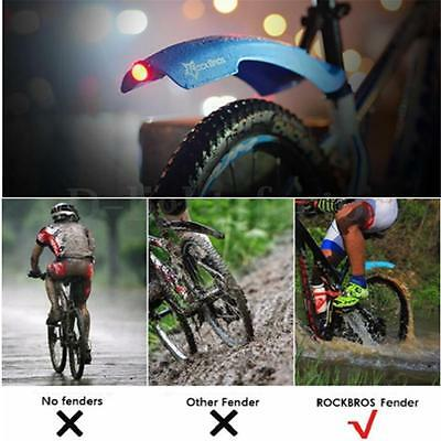 RockBros Bike Set MTB Cycling Front And Rear With LED Tail Light Mudguard Tire
