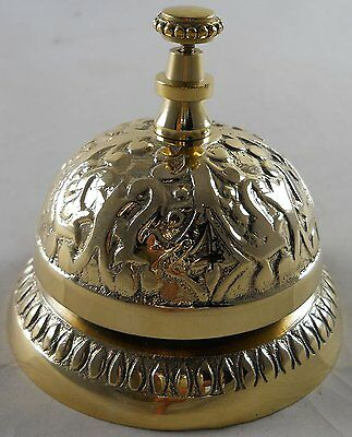 1 X Solid Brass Victorian Style Service Desk Bell