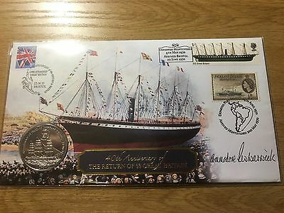 2010 40th Annv. Return of SS Great Britain Signed Buckingham Coin Cover Ships