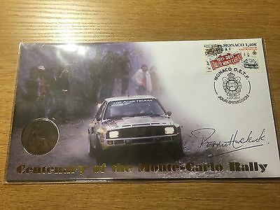 2011 Centenary Monte-Carlo Rally Buckingham Signed Paddy Hopkirk Coin Cover