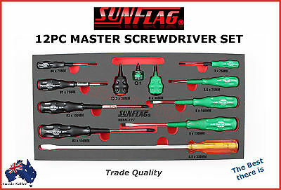 Sunflag 12Pc Master Screwdriver Set Made In Japan Trade Quality Best There Is!