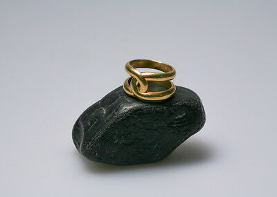 GOLD RING 18CT handmade with gold from the River Rhône