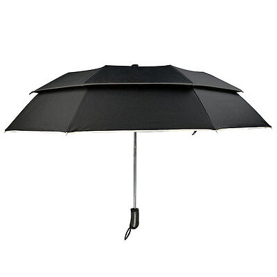 Wind Resistant Windproof Double Canopy Construction Compact Travel Umbrella New