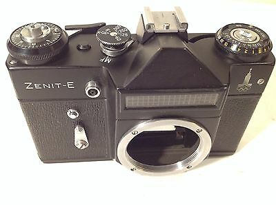 Vintage Zenit-E SLR 35mm Film Camera Body Only, Olympic Logo - made in USSR
