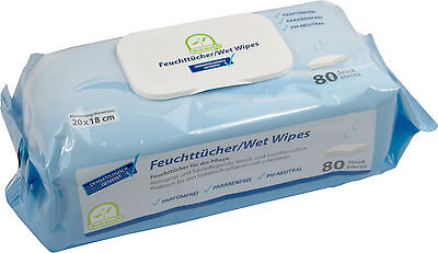 Feuchttücher / Wet Wipes von Medi-Inn parfüm- u. parabenfrei PH-neutral 20x18cm