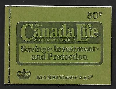 DT14 March 1974 50p Stitched Booklet - good condition UNMOUNTED MINT