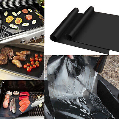 Lot of 10 Mats Easy BBQ Grill Mat Bake NonStick Grilling Mats  New