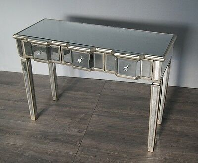 Antique Venetian Mirrored Console Table 3 Drawers
