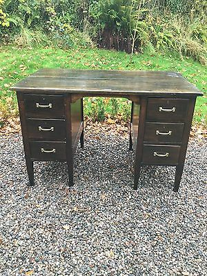 Antique Oak Kneehole Desk