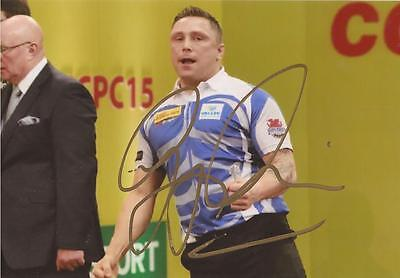 DARTS: GERWYN PRICE 'THE ICEMAN' SIGNED 6x4 ACTION PHOTO+COA