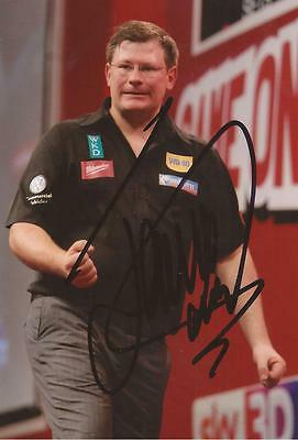 DARTS: JAMES WADE 'THE MACHINE' SIGNED 6x4 ACTION PHOTO+COA