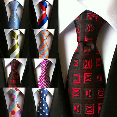 Wedding Party Necktie JACQUARD WOVEN Suits 100% Silk Fashion Tie Classic Men's