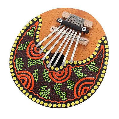 Kalimba Thumb Piano 7 Keys Tunable Coconut Shell Painted Musical Instrument M1#