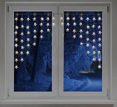 led lichtervorhang lichterkette sterne leuchten vorhang weihnachten fenster deko eur 32 70. Black Bedroom Furniture Sets. Home Design Ideas