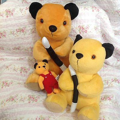 "Bundle Sooty Plush Toys - 15"", 10"" And 6"""