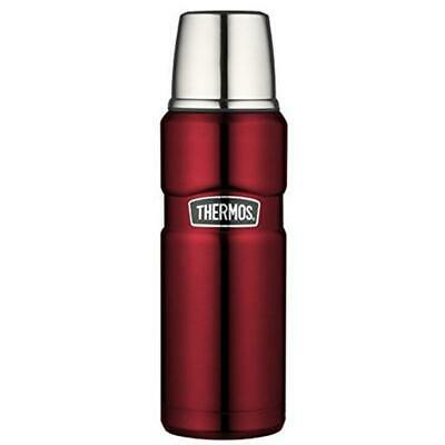 Thermos Isolierflasche Stainless King Cranberry 0,47 Liter rot mit Trinkbecher