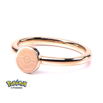 Pokemon Pokeball Ring Rose Gold Plated (Size 6)