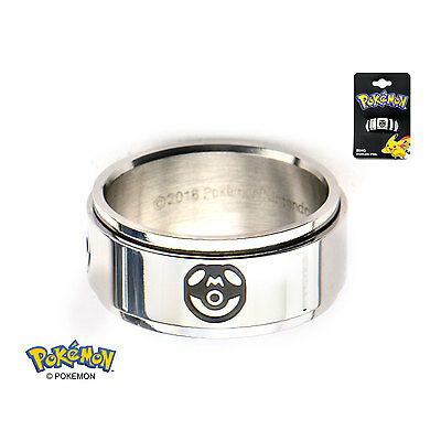 Pokemon Pokeball Spinner Ring (Size 10)