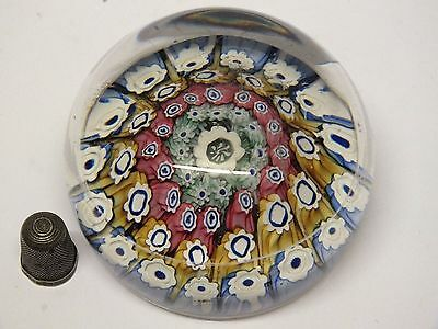 Large Early English Millefiori Paperweight - Possibly Richardson?