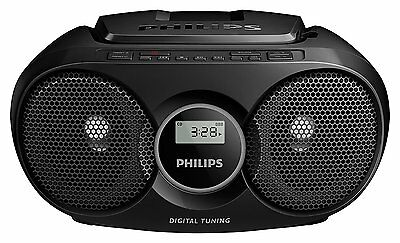 Philips AZ215B/05 Portable CD Player Boombox with FM Tuner & AUX-In *Black* B+