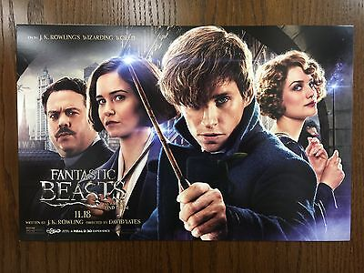 Fantastic Beasts and Where to Find Them Premier Poster SHIPPED FLAT!