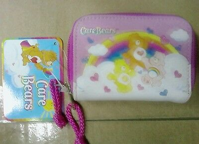 CARE BEARS Pink Coin Purse Bag with id slot Brand New 2003