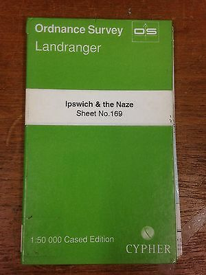 Ipswich & the Naze: Ordnance Survey Landranger Map 1:50000 Sheet #169