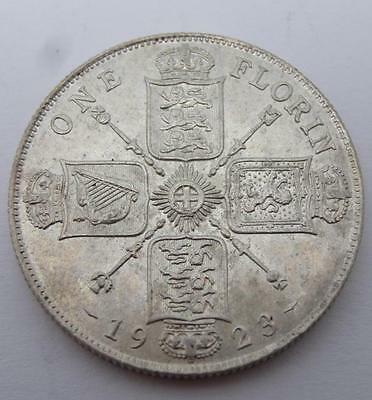 ***1923 .500 Silver One Florin George V Coin (310)***