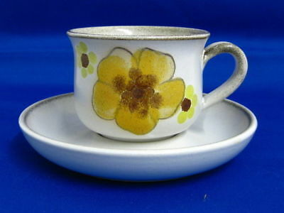 """Denby """" Minstral """" Tea Cups And Saucers"""