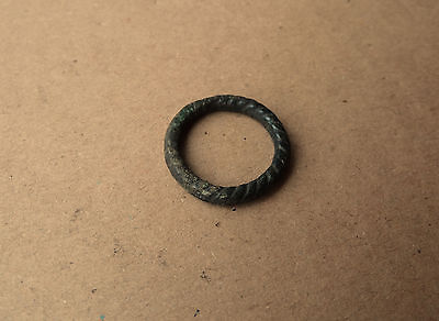 Rare Viking bronze Twisted RING  9-11 AD Kievan Rus