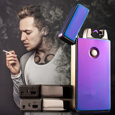 Electric USB Dual Arc Flameless Plasma Lighter Cigarette Rechargeable Windproof