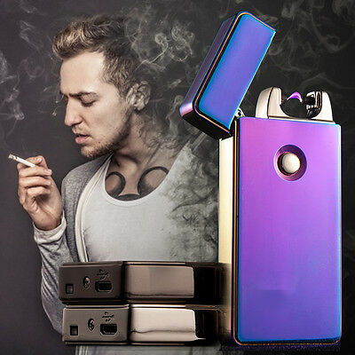 Electric USB SingleArc Flameless Plasma Lighter Cigarette Rechargeable Windproof