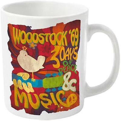Woodstock - Swirl Poster Ceramic Tea / Coffee Mug New & Official In Display Box