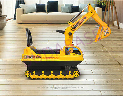 Children Kids Ride on Excavator Digger Tractor Truck Walkers Potty Training Toy