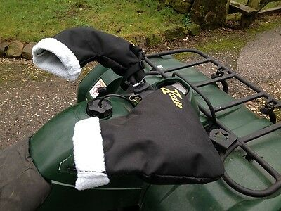 Xcite Quad Bike ATV Snowmobile Scooter Motorcycle Handle Bar Mitts Fleece Lined