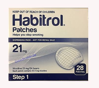 Habitrol Step 1 Transdermal Nicotine Patch 21mg 1 box 28 patches NEW