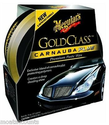 Meguiars Gold Class Carnauba Paste Wax 311g [G7014] Car Plus Premium New Formula