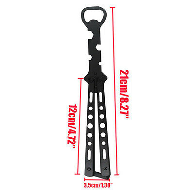 Hot Stainless Bottle Opener Butterfly Knife Style Trainer Metal Beer Wholesale