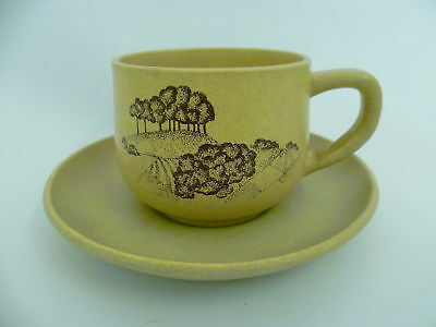 Honiton Pottery Tea Cups And Saucers
