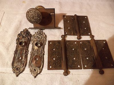antique brass and cast iron door set.