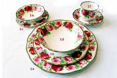 Royal Albert Old English Rose 7-Piece Place Settings (12 available)