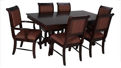 Merlot 9 Piece Formal Dining Room Furniture Set Pedestal Table & 8 Chairs