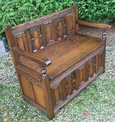 Superb Old Charm Monks Bench/settle Very Clean  Condition Cheap Delivery