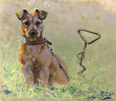 PATTERDALE TERRIER DOG FINE ART LIMITED EDITION PRINT - by Malcolm Coward