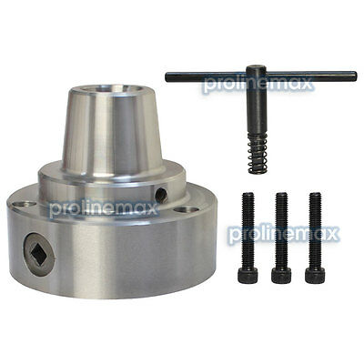 "5C 5"" Collet Chuck Plain Back Mounting Lathe CNC .0006"" D1"