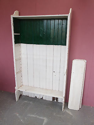 Antique Victorian/edwardian Solid Painted Pine Bookcase With Adjustable Shelves