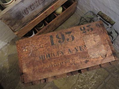 Fabulous  Old Rustic Vintage French Wooden Crate / Box ~ Moulin A Vente