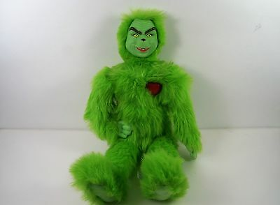 Dr Seuss How The Grinch Stole Christmas Heart Warming Grinch Plush Doll